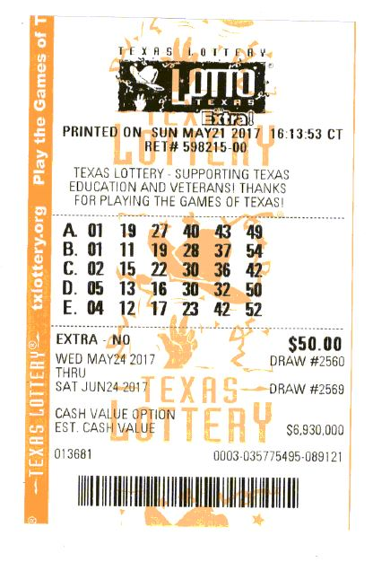 Lotto Texas Tickets Held by Lotto Central