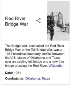 Red River Bridge War of 1931