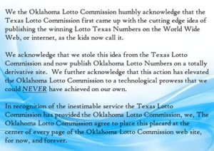 Oklahoma Lottery Standard Page Insert