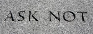 Ask Not John F Kennedy