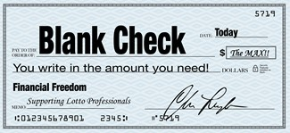 Universal Guaranteed Income UGI - Blank Check