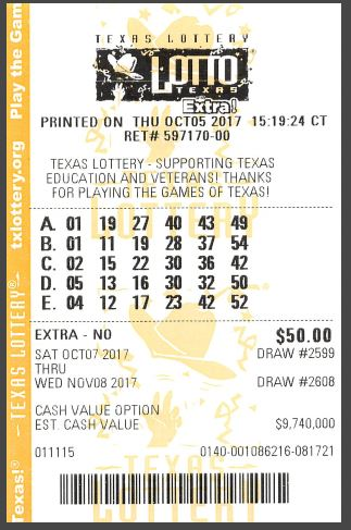 Texas Lotto Tickets